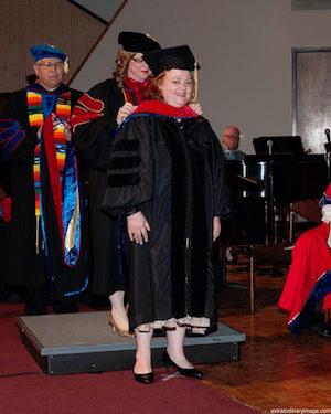 Debbie's hooding ceremony!