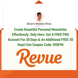 revue newsletter coupon